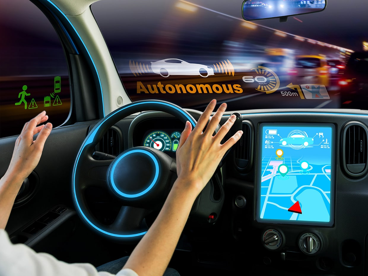 Image of autonomous car